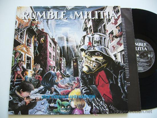 RUMBLE MILITIA. LP STOP VIOLENCE AND MADNESS. CENTURY MEDIA 1991 (Música - Discos - LP Vinilo - Heavy - Metal)