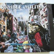 Discos de vinilo: RUMBLE MILITIA. LP STOP VIOLENCE AND MADNESS. CENTURY MEDIA 1991. Lote 34602352