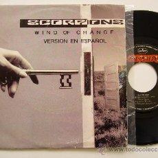 """Discos de vinilo: SCORPIONS. 7"""" SINGLE WIND OF CHANGE. VERSIÓN EN ESPAÑOL. MERCURY 1990 PROMO EDICIÓN ESPAÑOLA. Lote 34603255"""
