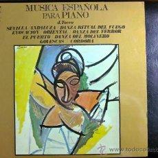 Discos de vinilo: MÚSICA ESPAÑOLA PARA PIANO - PIANO: J. TOCCO. Lote 34606856