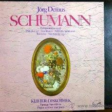 Discos de vinilo: SCHUMANN, PAGES CELEBRE POR PIANO - JORG DEMUS, PIANO. Lote 34607545
