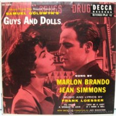 Discos de vinilo: GUYS AND DOLLS. Lote 34609600