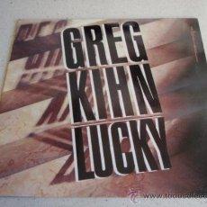 Discos de vinilo: GREG KIHN ( LUCKY ) DANCE MIX + TRENCH MIX 1985 - EEC MAXI45 EMI AMERICA. Lote 34610836