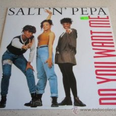 Discos de vinilo: SALT 'N' PEPA ( DO YOU WANT ME ) SERIOUS MIX + REMIX-EXTENDED VERSION + TECHNO PHILLY MIX ( ESSENT. Lote 34611058