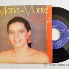 Discos de vinilo: MARIA DEL MONTE - LALAYLA, LALAYLA/QUIERO SER TU AMANTE ¡¡NUEVO!! (COLUMBIA SINGLE 1985) ESPAÑA. Lote 34612306