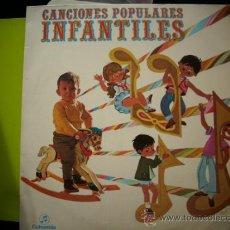 Discos de vinilo: LP - CANCIONES POPULARES INFANTILES - CORO INFANTIL ACOMPAÑADO DE ORQUESTA - COLUMBIA 1969 PEPETO. Lote 34619609