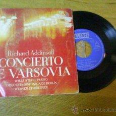 Discos de vinilo: RICHARD ADDINSELL, CONCIERTO DE VARSOVIA,, 1964. Lote 34620763