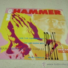 Discos de vinilo: M.C. HAMMER ( PRAY ) JAM THE HAMMER MIX - HIT UM HARD MIX 1990 MAXI45 CAPITOL RECORDS. Lote 34621014