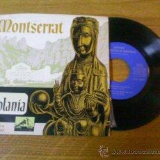 Discos de vinilo: ESCOLANIA DEL MONASTERIO DE MONSERRAT..EL DESEMBRE CONGELAT..SANT JOSEP I LA MARE DE DÉU.EL NOI DE L. Lote 34628937