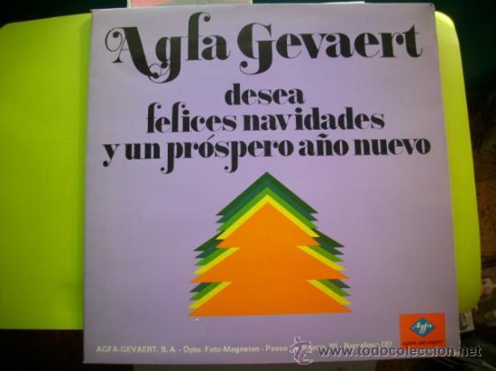 AGFA GEVAERT / FELICES NAVIDADES Y.../ LP PROMO (Música - Discos - LP Vinilo - Otros estilos)