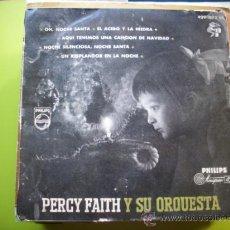Discos de vinilo: PERCY FAITH Y SU ORQUESTA ,OH NOCHE SANTA, EL ACEBO Y LA../ EP 1958. Lote 34632230