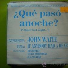 Discos de vinilo: SINGLE PROMO BSO ¿QUE PASO ANOCHE? - .J.D. SOUTHER PEPETO. Lote 34632705