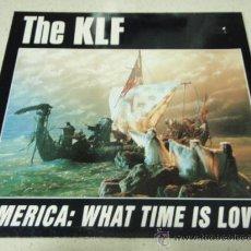 Discos de vinilo: THE KLF ( AMERICA WHAT TIME IS LOVE? - AMERICA NO MORE ) 1992-GERMANY MAXI33 COMA RECORDS. Lote 34633203
