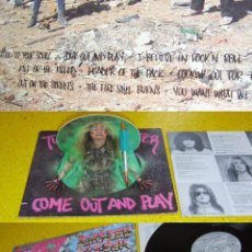 Discos de vinilo: TWISTED SISTER - COME OUT AND PLAY 1985 !! ORIG. EDIT. MUÑECO MUELLE !! IMPECABLE !!!!!!. Lote 34633625