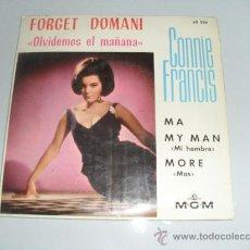Discos de vinilo: CONNIE FRANCIS - FORGET DOMANI + 3 EP 1965. Lote 34633957