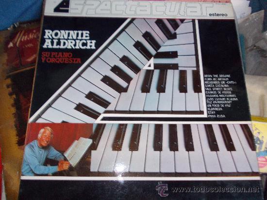 RONNIE ALDRICH, SU PIANO Y ORQUESTA. COLUMBIA ESTEREO 1982 LP- (Música - Discos - LP Vinilo - Orquestas)