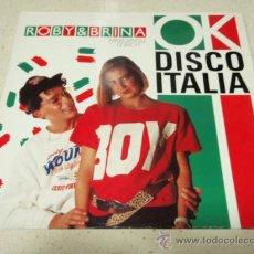 Discos de vinilo: ROBY E BRINA ( OK DISCO ITALIA - CANTATE ANCHE VOI OK DISCO ITALIA ) 1988-GERMANY MAXI45 BABY RECOR. Lote 34640041