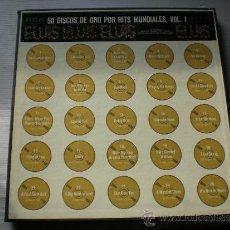 Discos de vinilo: ELVIS PRESLEY 50 DISCOS DE ORO MUNDIALES VOL. 1- CAJA 4 LPS. RCA ESPAÑA 1970 + LIBRETO VER + FOTOS. Lote 34640977