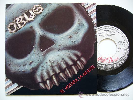 OBUS. 7 SINGLE. TE VISITARA LA MUERTE. CHAPA DISCOS 1985. PROMO (Música - Discos - Singles Vinilo - Heavy - Metal)