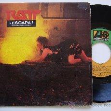 Discos de vinilo: RATT. 7 SINGLE. ROUND AND ROUND. ATLANTIC 1984. PROMO EDICIÓN ESPAÑOLA. Lote 34643617