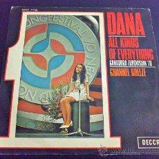 Discos de vinilo: DANA, ALL KINDS OF EVERYTHING - GANADORA EUROVISIÓN 1970. Lote 34651016
