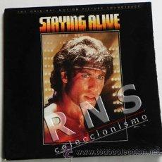 Discos de vinilo: STAYING ALIVE - BSO PELÍCULA CINE - BEE GEES - JOHN TRAVOLTA DISCO DE VINILO LP MÚSICA BANDA SONORA. Lote 34657833