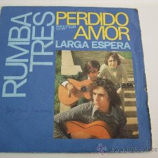 Discos de vinilo: RUMBA TRES - PERDIDO AMOR - LARGA ESPERA - SINGLE VINILO 1972. Lote 34659225