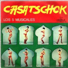 Discos de vinilo: SINGLE LOS 5 MUSICALES : CASATSCHOK + CASATSCHOCK Y WODKA . Lote 34660929