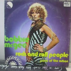 Discos de vinilo: BOBBIE MCGEE - ROCK AND ROLL PEOPLE / PIECE OF THE ACTION - EDICION ESPAÑOLA - EMI 1973. Lote 34662377