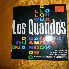 Discos de vinilo: LOS QUANDO´S. EL QUANDO + 3. EP. COLUMBIA 1965. Lote 44608428