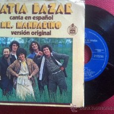 "Disques de vinyle: 7""SINGLE - MATIA BAZAR - MR. MANDARINO. Lote 34679451"