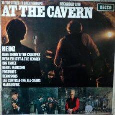 Discos de vinilo: AT THE CAVERN - GRUPOS INGLESES EN DIRECTO - EDICIÓN DE 1964 DE ESPAÑA. Lote 34691178