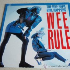 Discos de vinilo: THE WEE PAPA GIRL RAPPERS ( WEE RULE RAGAMUFFIN MIX - REBEL RAP ) 1988-HOLANDA MAXI45 JIVE . Lote 34683064