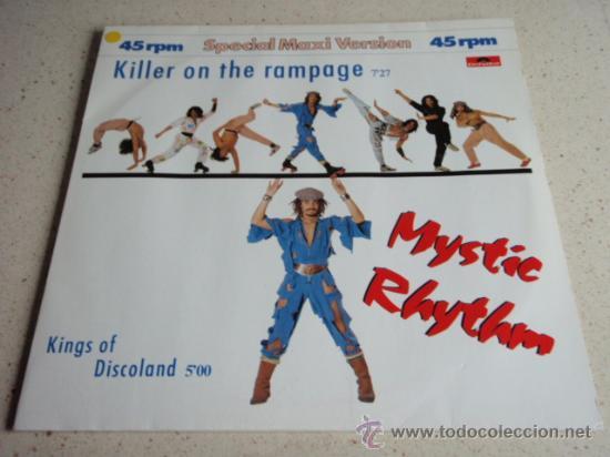 MYSTIC RHYTHM ( KILLER ON THE RAMPAGE - KINGS OF DISCOLAND ) 1984-GERMANY MAXI45 POLYDOR (Música - Discos de Vinilo - Maxi Singles - Disco y Dance)