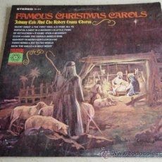 Discos de vinilo: JOHNNY COLE AND THE ROBERT EVANS CHORUS 'FAMOUS CHRISTMAS CAROLS' 12 CANCIONES USA LP33. Lote 34685552