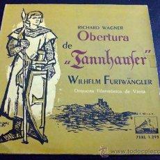 Discos de vinilo: WAGNER, OBERTURA DE TANNHAUSER - DIRECTOR: WILHELM FURTWÄNGLER. Lote 34692465