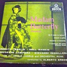 Discos de vinilo: PUCCINI, MADAM BUTTERFLY - DIRECTOR: ALBERTO EREDE, CON RENATA TEBALDI, NELL RANKIN, G. CAMPORA.... Lote 34692480