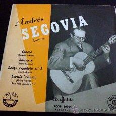 Discos de vinilo: ANDRÉS SEGOVIA ( GUITARRA ), SONATA DE SCARLATTI.... Lote 34692525