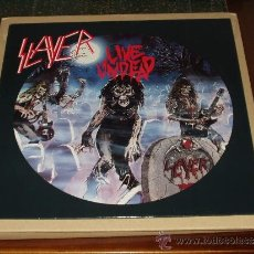 Discos de vinilo: SLAYER LP LIVE UNDEAD HEAVY METAL. Lote 34702713