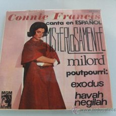 Discos de vinilo: CONNIE FRANCIS - MISTERIOSAMENTE + 3 EP 1965. Lote 34705273
