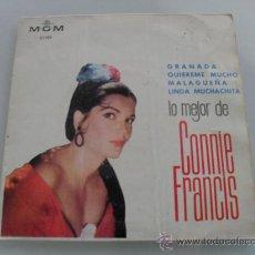 Discos de vinilo: LO MEJOR DE CONNIE FRANCIS - GRANADA + 3 EP 1964. Lote 34705383