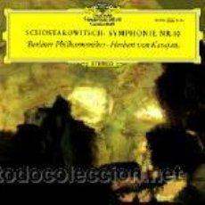 Discos de vinilo: SCHOSTAKOWITSCH – BERLINER PHILHARMONIKER · HERBERT VON KARAJAN ?– SYMPHONY NO. 10. Lote 34710261