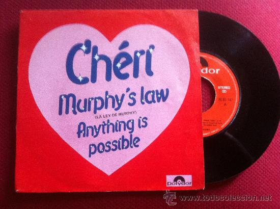 "7"" SINGLE - CHERÍ - MURPHI'S LAW (Música - Discos - Singles Vinilo - Pop - Rock - Extranjero de los 70)"