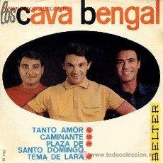 Discos de vinilo: LOS CAVA BENGAL - TANTO AMOR - 1964. Lote 34728025