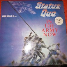 Discos de vinilo: MAXI SINGLE STATUS QUO – IN THE ARMY NOW – MILITARY MIX 5:55. Lote 34735271