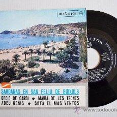 Discos de vinilo: SARDANAS EN SAN FELIU DE GUIXOLS - COBLA MONTGRINS, BARCELONA ¡¡NUEVO!! (RCA EP 1966) ESPAÑA. Lote 34741555