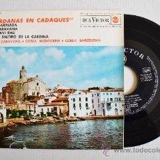 Discos de vinilo: SARDANAS EN CADAQUES - COBLA CARAVANA, MONTGRINS, BARCELONA ¡¡NUEVO!! (RCA EP 1963) ESPAÑA. Lote 34742526