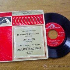 Discos de vinilo: LE BARBIER DE SEVILLE.CENDRILLON. DIRECTOR ARTURO TOSCANNINI. Lote 34743464