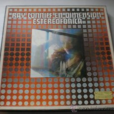 Discos de vinilo: RAY CONNIFF, DIMENSION STEREOFONICA, CAJA 3 LPS. CBS 1977 COMO NUEVO. + FOTO TITULOS. LOTE MUY RARO. Lote 34744064