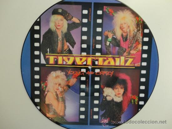 TIGERTAILZ - YOUNG AND CRAZY- LP PICTURE DISC UK 1987 MUSIC FOR NATIONS. NEAR MINT. (Música - Discos - LP Vinilo - Heavy - Metal)